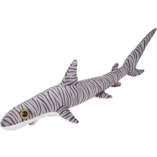 Tijgerhaaien speelgoed artikelen tijgerhaai knuffelbeest gestreept 110 cm