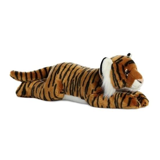 Tijgers speelgoed artikelen tijger knuffelbeest bruin 70 cm