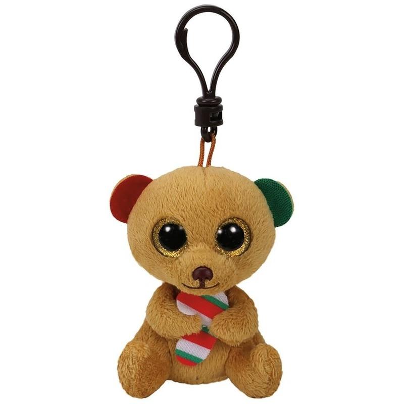 Ty Beanie Bella kerst sleutelhanger 15 cm