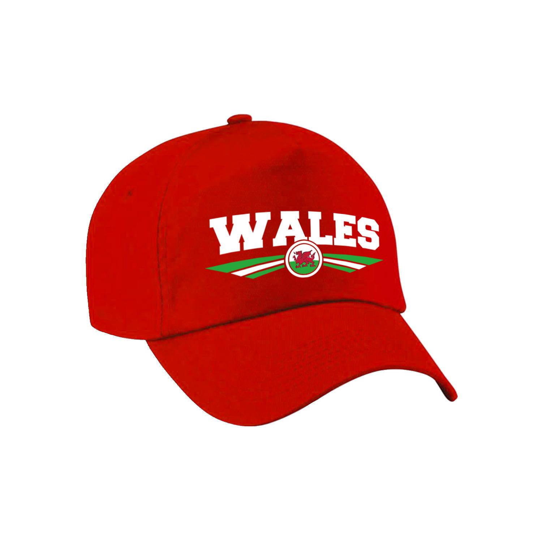 Wales landen pet - baseball cap rood volwassenen
