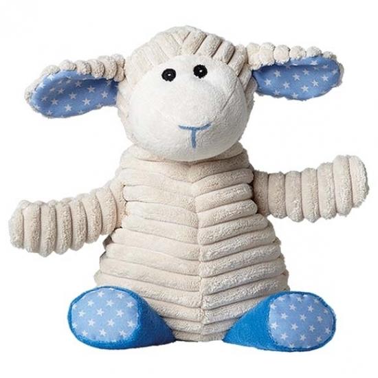 Warme knuffel kruik blauw schaap boerderijdier