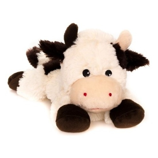Warme knuffel kruik koe 18 cm