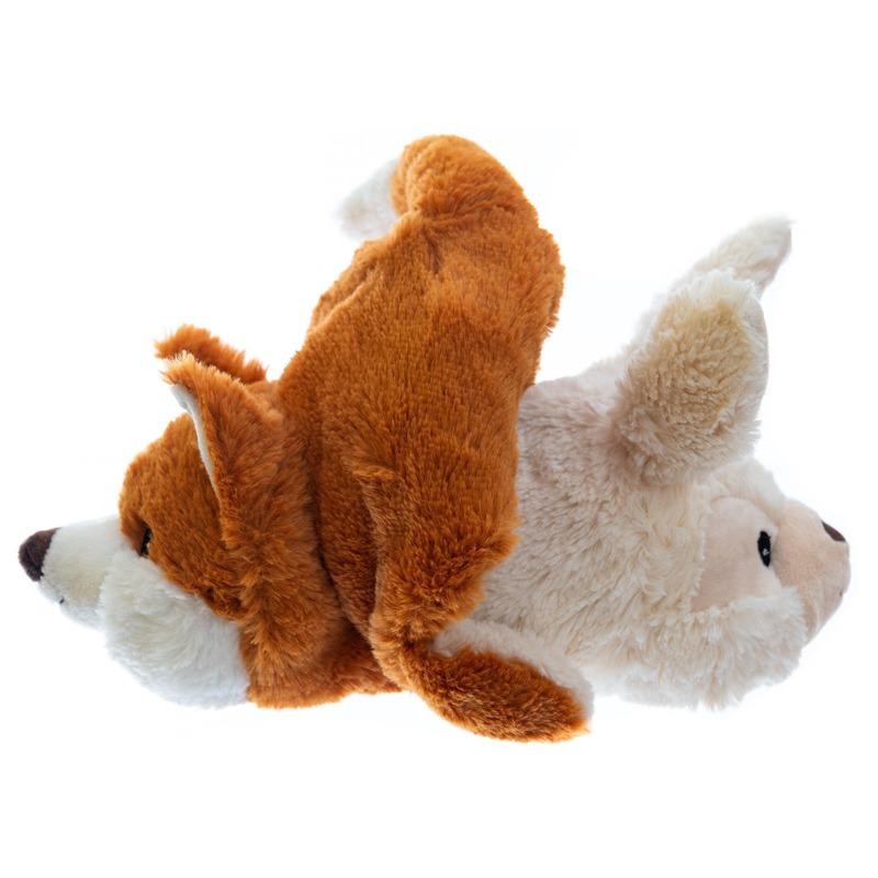 Warme knuffel kruik konijn/vos 30 cm