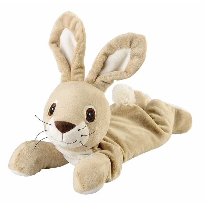 Warme knuffel kruik liggende konijn