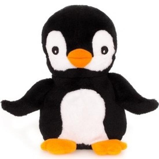Warme knuffel kruik pinguin 23 cm
