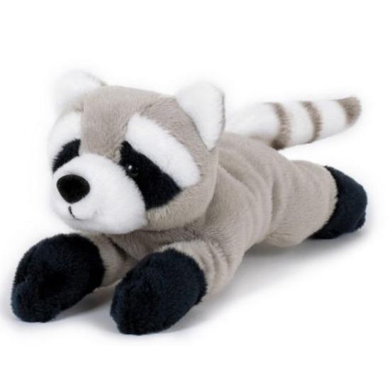 Wasberen speelgoed artikelen wasbeer knuffelbeest grijs 13 cm