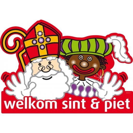 Welkom Sint en Piet deurbord