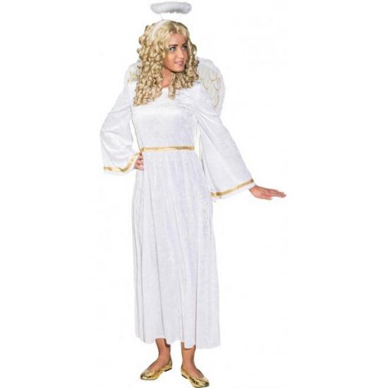 f55d667f8d0341 Engelen jurk voor dames. deze witte engelen jurk voor dames is gemaakt van  100%