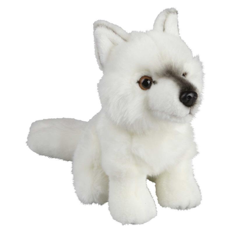 Wolven speelgoed artikelen poolwolf knuffelbeest wit 18 cm