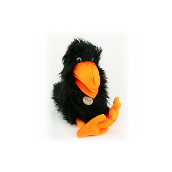 Zwarte raaf knuffeldier en handpop