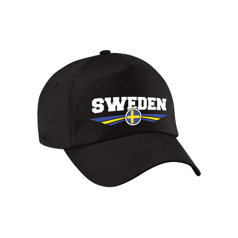 Zweden - Sweden landen pet - baseball cap zwart volwassenen