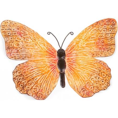 Metalen Vlinder Oranje Zwart 39 Cm Tuin Decoratie Bestellen Voor 7 99 Bij Het Knuffelparadijs